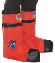 Orange Astronaut Child Boot Covers