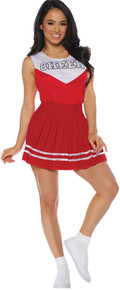 Cheerleader Adult Costume Red
