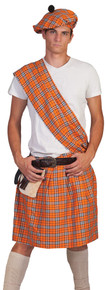 Highlander Orange Adult Costume