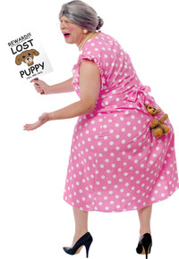 Lost Puppy Grandma Adult Costume