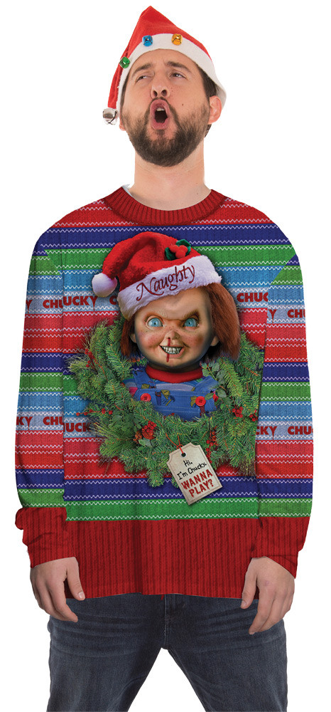 Chucky Childs Play Ugly Christmas Adult Sweater Fantasycostumescom