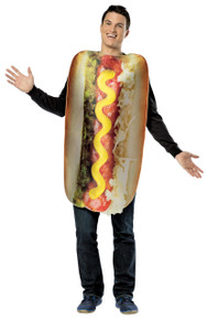 Hot Dog Adult Costume Loaded
