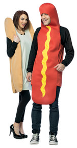 Hot Dog & Bun Adult Couples Costume