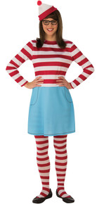 Wenda Where's Waldo Adult Costumev Std