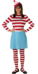 Wenda Where's Waldo Adult Costumev Std