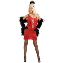Flapper Adult Costume Red