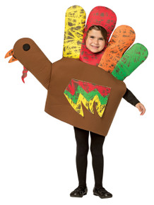 Hand Turkey Child Costume Small 4-6