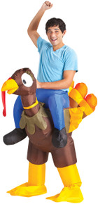 Turkey Rider Inflatable Adult Costume