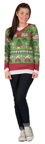 Ugly Christmas Female Sweater Shirt