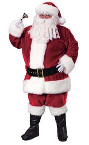 Santa Suit  Crimson Plush Plus Size