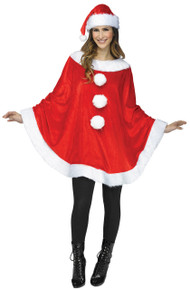 Adult Sized Woman's Santa Poncho
