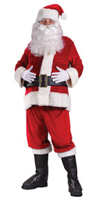 Santa Suit Rich Velvet Std