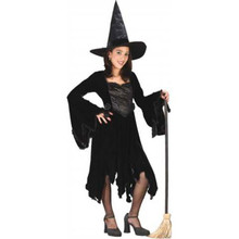 Witch Costume Velvet Child Small 4-6