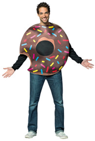 Chocolate Donut w/ Bite Adult Costume