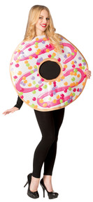 White Frosted Donut Adult Costume