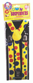 Polka Dot Clown Suspenders