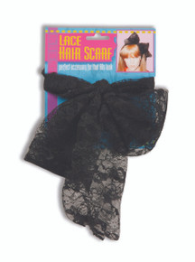 80's Black Hair Scarf