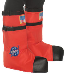 Orange Adult Astronaut Boot Tops