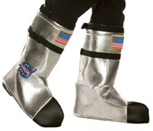 Silver Adult Astronaut Boot Tops