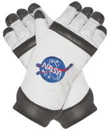 White Adult Astronaut Gloves
