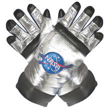 Silver Adult Astronaut Gloves