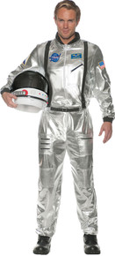 Astronaut Silver Space Suit Adult Costume 2X