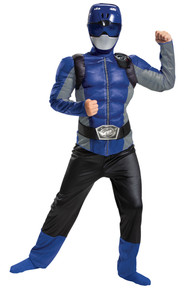 Power Rangers Blue Beast Morphers Muscle Child Costume