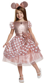 Rose Gold Minnie Mouse Child Costume