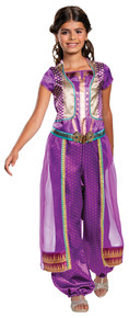 Girl's Jasmine Purple Classic Costume - Aladdin Live Action