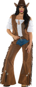 Cowgirl Adult Costume Large
