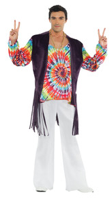 60's Tye Dye Guy Adult Costume