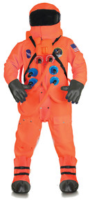 Orange Astronaut Deluxe Adult Costume