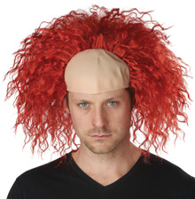 Red Clown Baldness Adult Wig