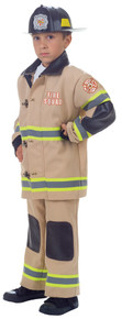Tan Deluxe Fire Fighter Child Costume