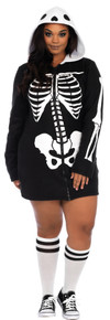 Cozy Skeleton Plus Size Adult Costume