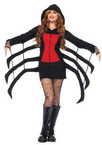 Cozy Black Widow Spider Adult Costume