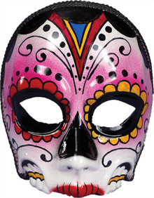 Day of the Dead Female Skull Half Mask