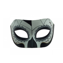 Black/White/Grey Day of the Dead Half Mask