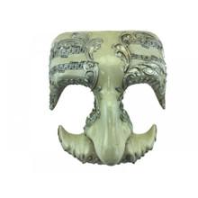 Silver Symphony Masquerade Half Mask