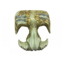 Gold Symphony Masquerade Half Mask