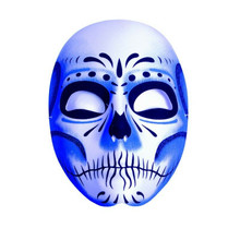 Day of the Dead Blue Shadow Sugar Skull Masquerade Mask