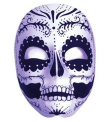 Day of the Dead Black & White Masquerade Mask