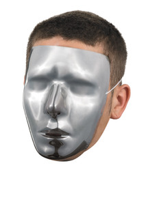 Male Chrome Blank Full Mask