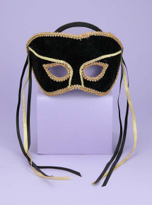 Black & Gold Venetian Couple Male Mask