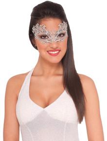 Silver Lace Eyemask