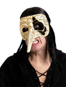 Venetian Raven Ivory Mask
