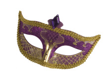 Carnival Purple & Gold Eyemask