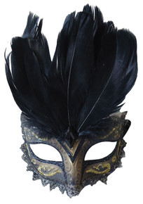 Black & Gold Carnivale Mask