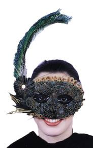 Roaring 20's Style Feather Eyemask