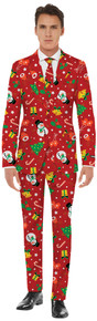 Men's Red Icon Christmas Suit
